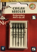 Brodernål Anti-Glue 75, 5 pack